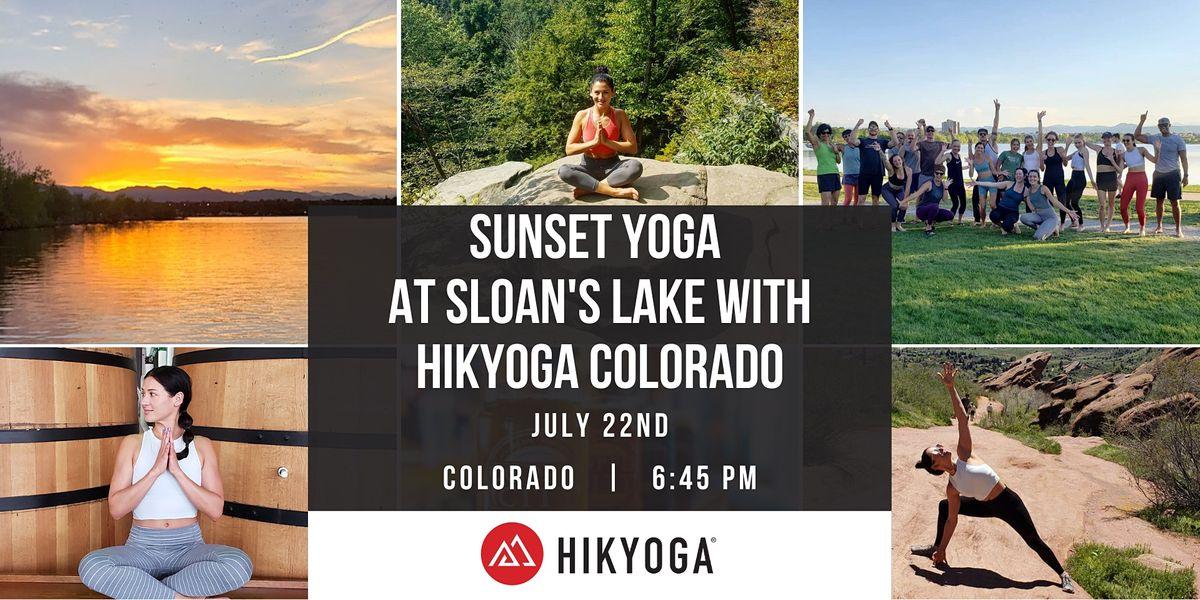 Sunset Yoga at Sloan's Lake with Hikyoga Colorado