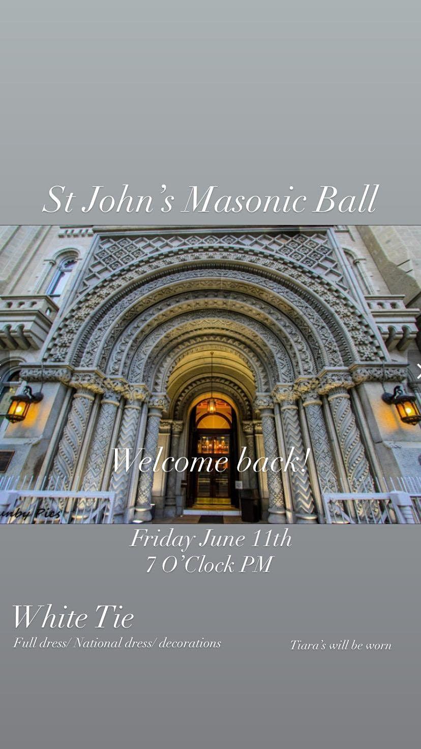 St John\u2019s Masonic Ball