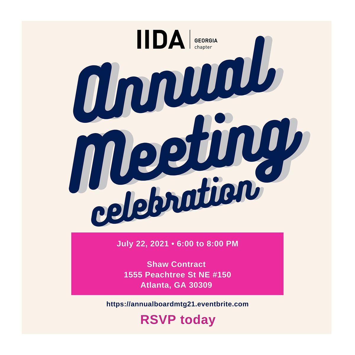 IIDA Georgia 2021 Annual Meeting
