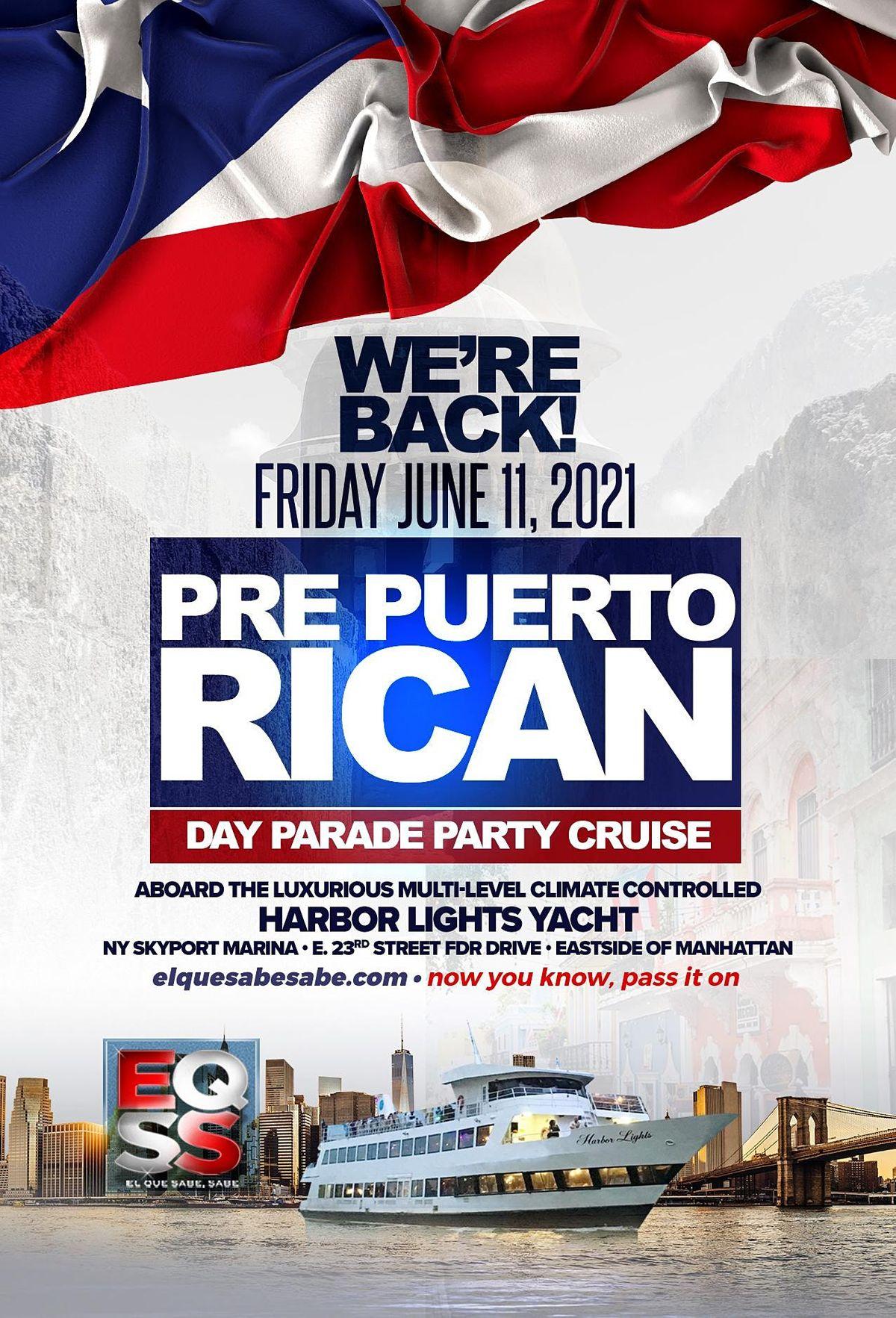 Pre Puerto Rican Day Parade Party Cruise w\/ Jerry Geraldo