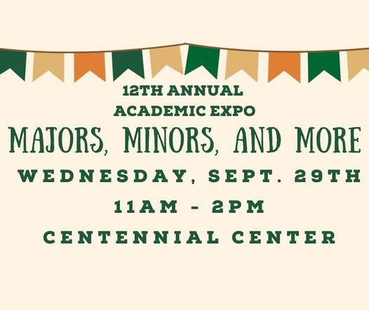 12th Annual Academic Expo: Majors, Minors, and More!