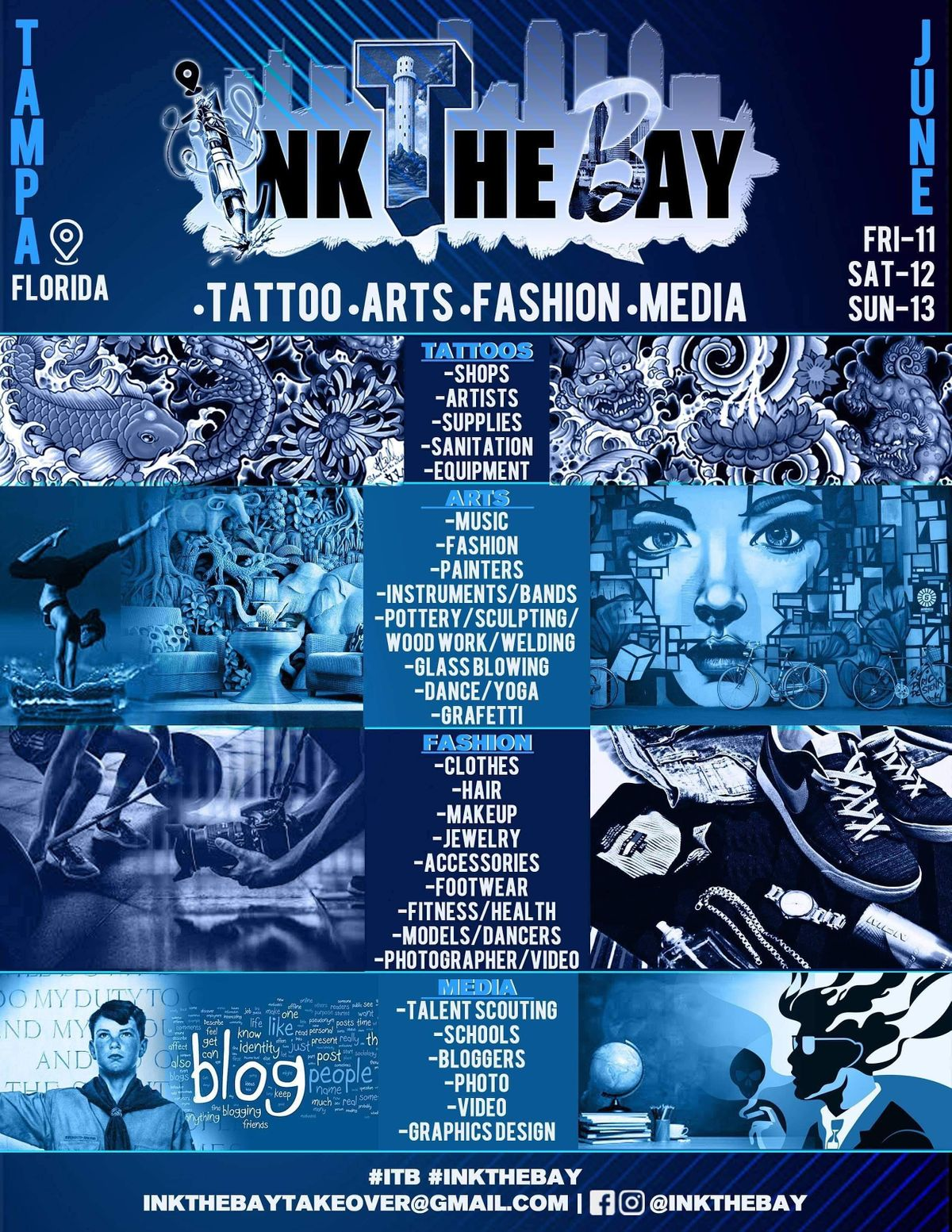 INK THE BAY CONVENTION ``\/ TATTOO ARTS FASHION MEDIA \/ TAMPA CONVENTION CEN