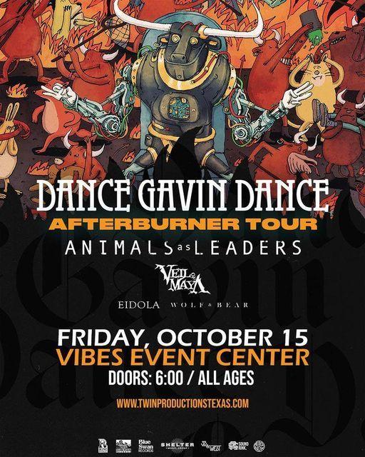 Dance Gavin Dance at Vibes Event Center