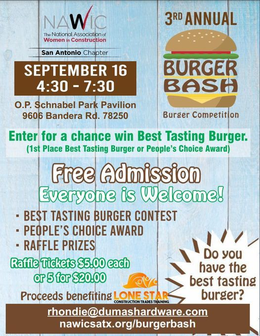 3rd Annual NAWIC San Antonio Burger Bash Benefiting LSCTT
