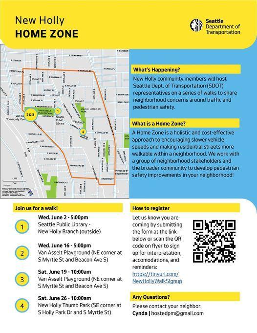SW Holly Park Pedestrian Safety Walk with SDOT