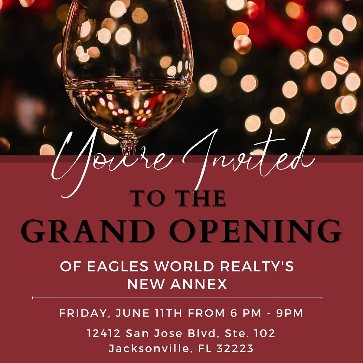 Grand Opening to the Annex @ Eagles World Realty
