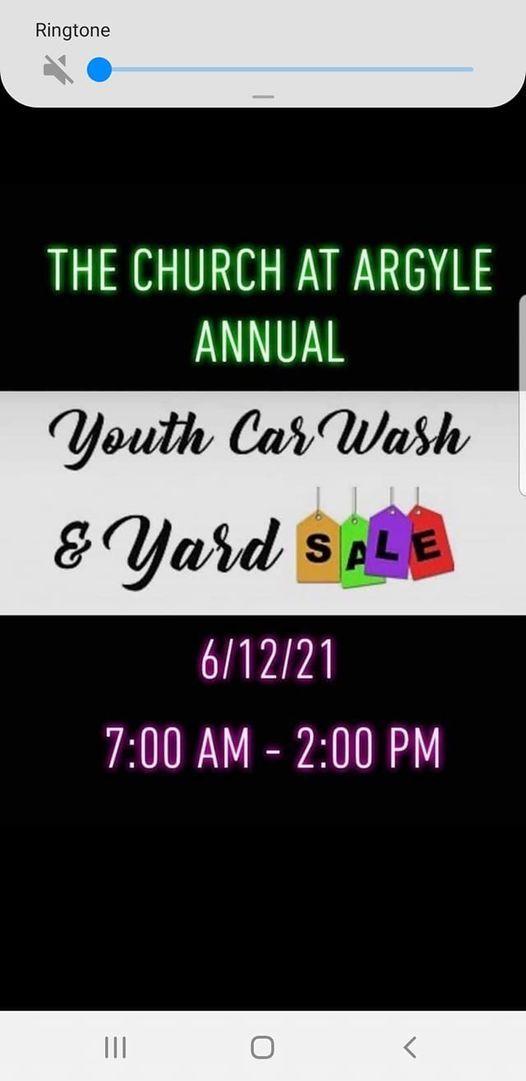 Youth Car Wash and Garage Sale