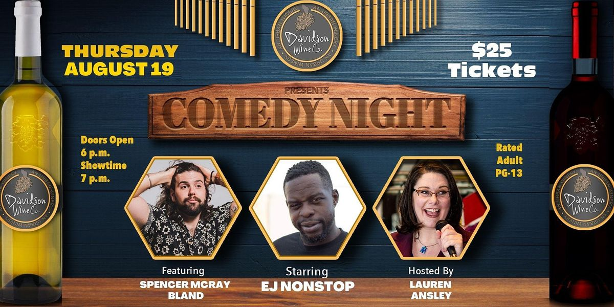 Comedy Night at Davidson Wine Co. - a Beerly Funny Production