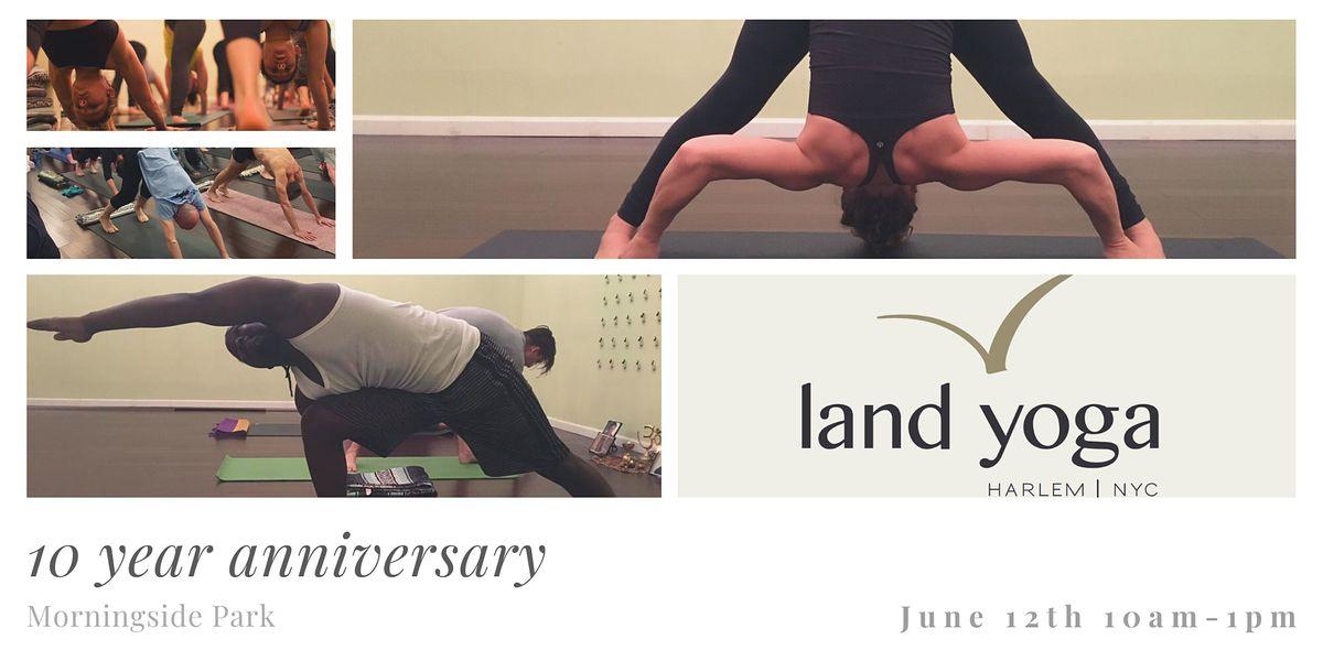 Land Yoga 10 Year Anniversary  Capoeira and Yoga Event