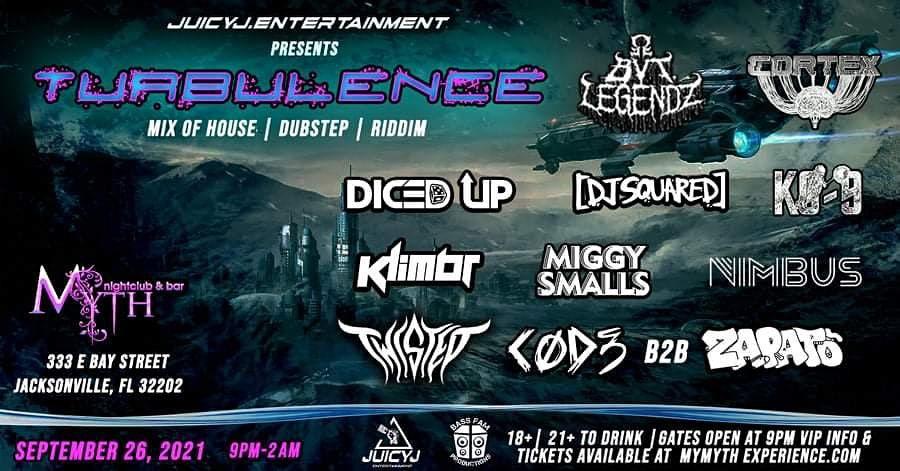 Juicy J Presents TURBULENCE at Myth Nightclub   Sunday, 09.26.21