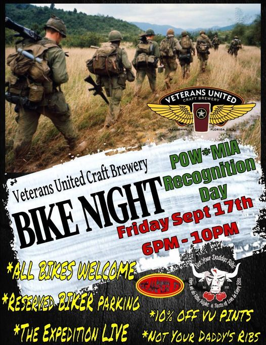VU Bike Night - POW*MIA Recognition Day - Friday September 17th