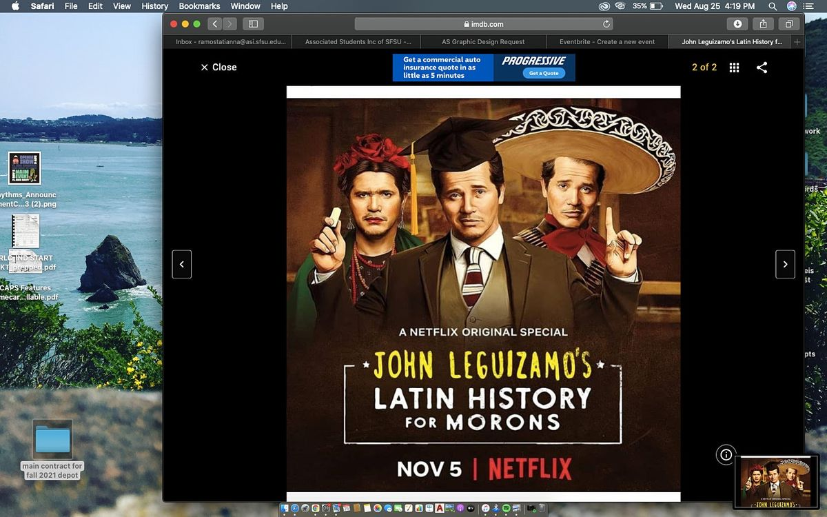 ASProduction presents John Leguizamo's Latin History for Morons Movie Night