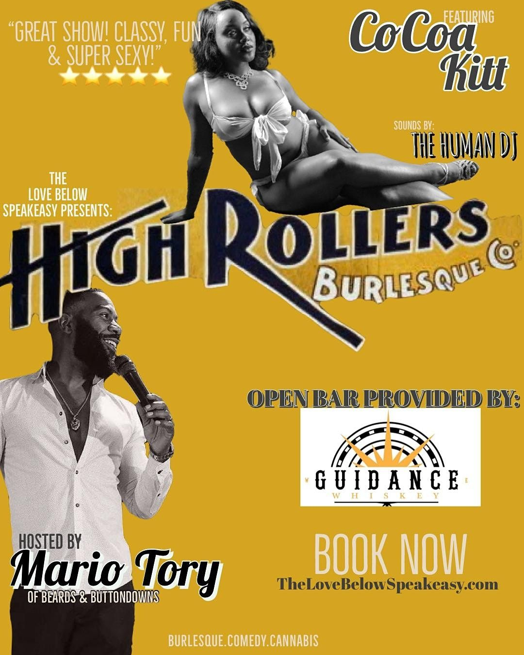 HIGH ROLLERS BURLESQUE CO at THE LOVE BELOW SPEAKEASY