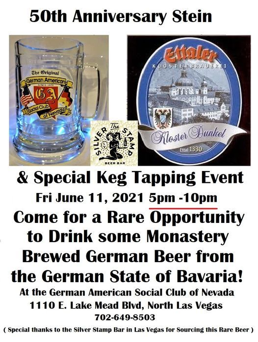 50th Anniversary Stein Sale and Monk Brewed Beer Keg Tapping - Public Welcome!