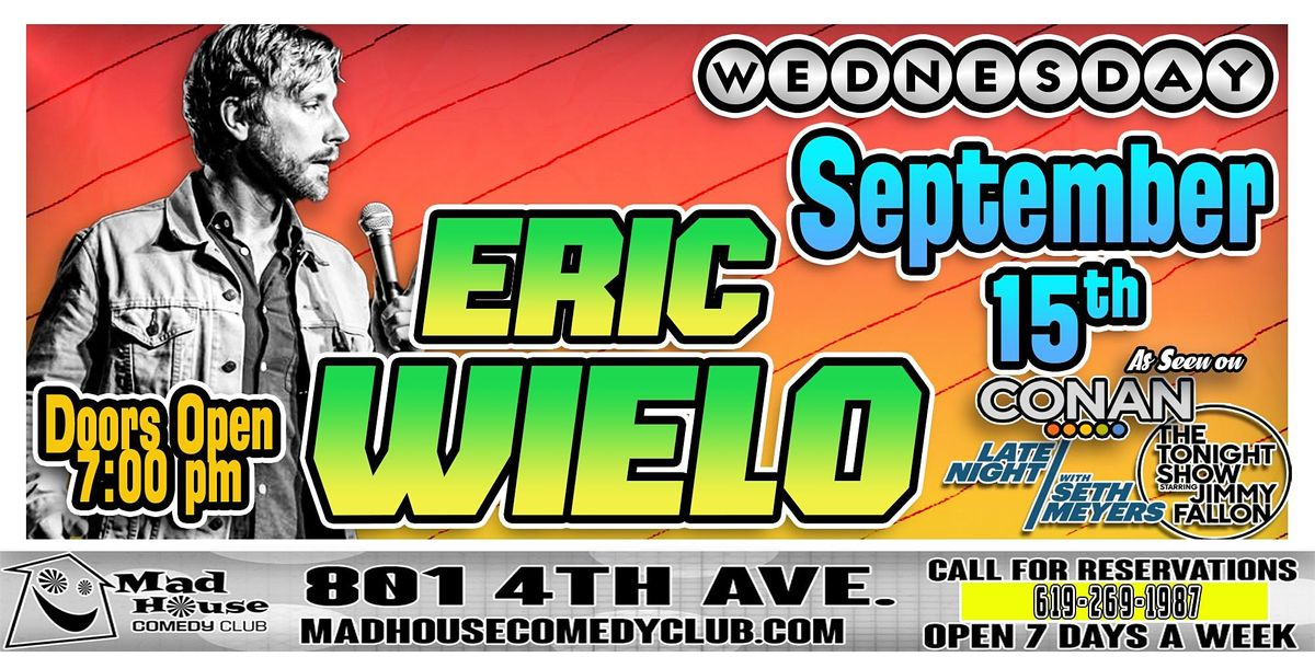 Eric Wielo as seen on HBO and NBC!