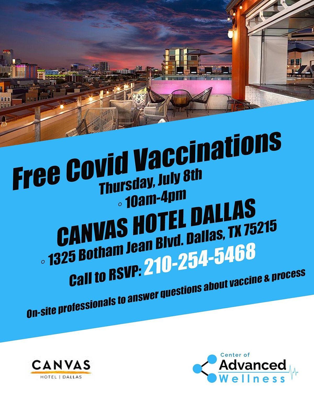 FREE Covid-19 Vaccination PFIZER  - CANVAS HOTEL