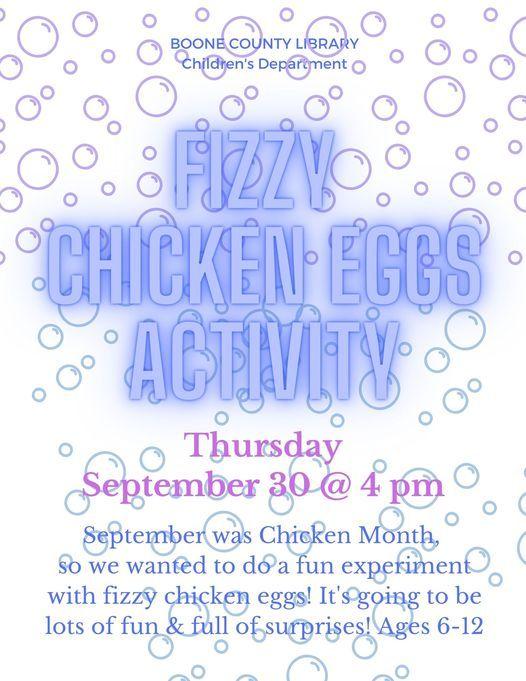 Fizzy Chicken Eggs Activity