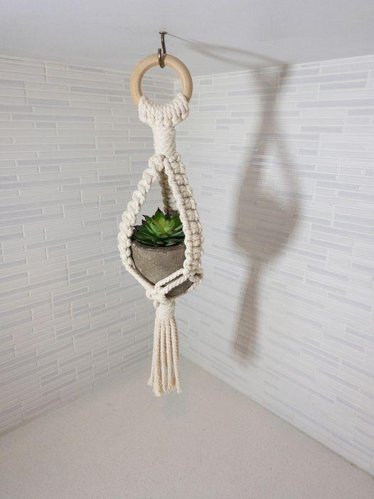 Macrame Mini Plant Hanger