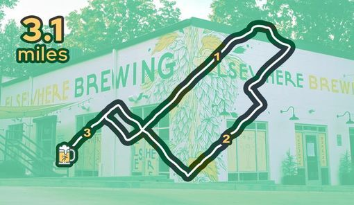 Group Run and Drinks at Elsewhere Brewing