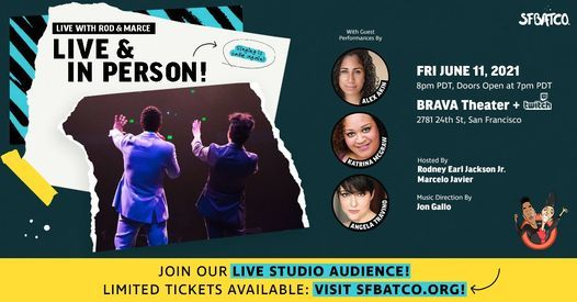 Live with Rod and Marce: LIVE AND IN PERSON!