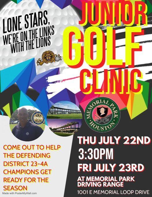 Lone Star Golf Association Junior Golf Clinic with the Jack Yates Senior High School Golf Team