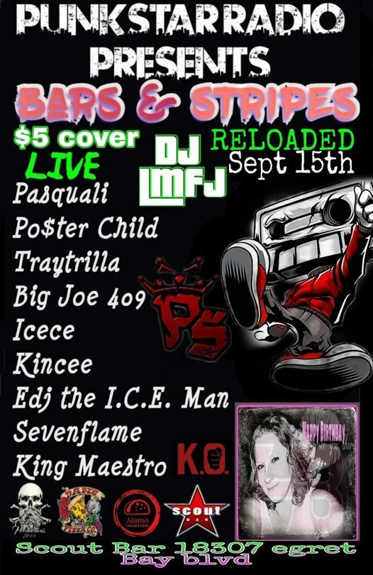 Short set at Scout Bar On Sept. 15th!