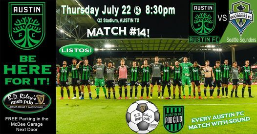 Seattle Sounders @ Austin FC GAME WATCH