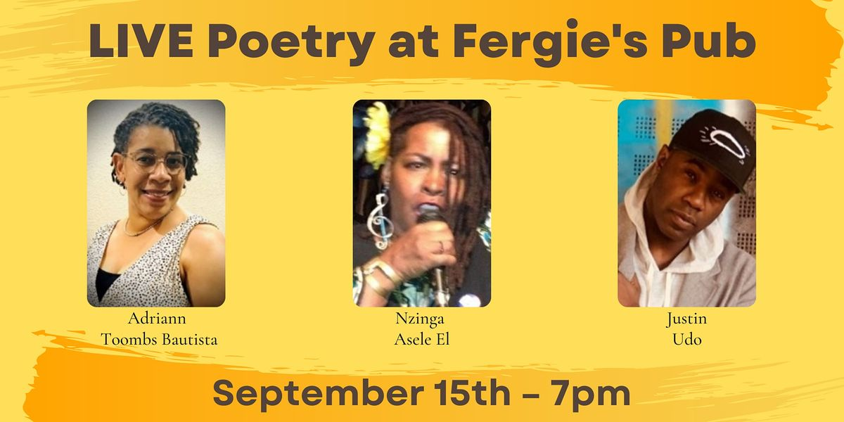 Live Poetry: Adriann Toombs Bautista, Nzinga Asele El, and Justin Udo