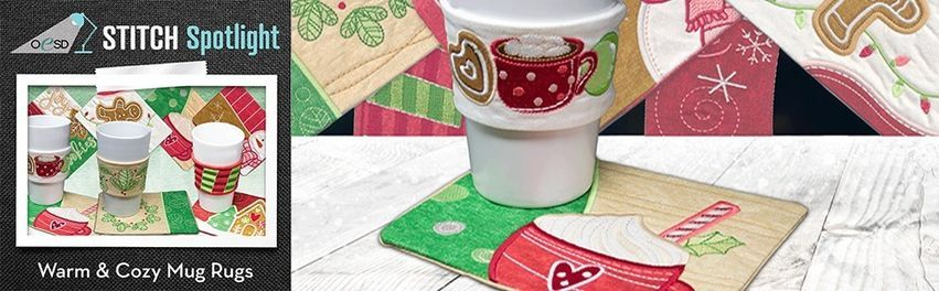 OESD Stitch Spotlight: Warm & Cozy Mug Rugs