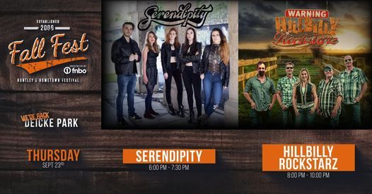 Huntley Fall Fest Presented by FNBO  Main Stage Thursday Night