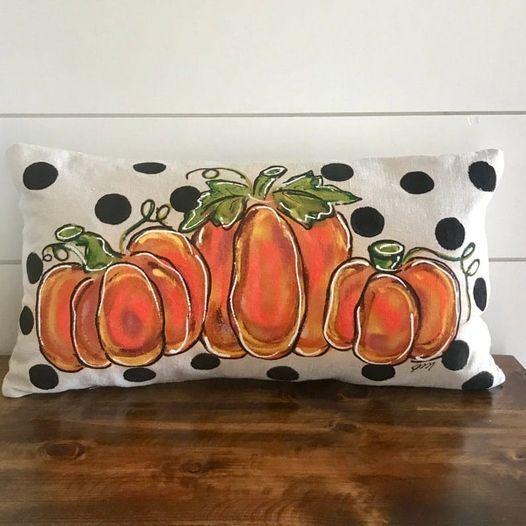 Paint and Stuff Pumpkin Pillow at Jax Craft Beer