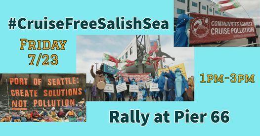 #CruiseFreeSalishSea Rally at Pier 66!