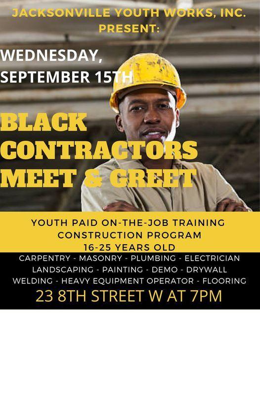 BLACK CONTRACTORS MEET & GREET
