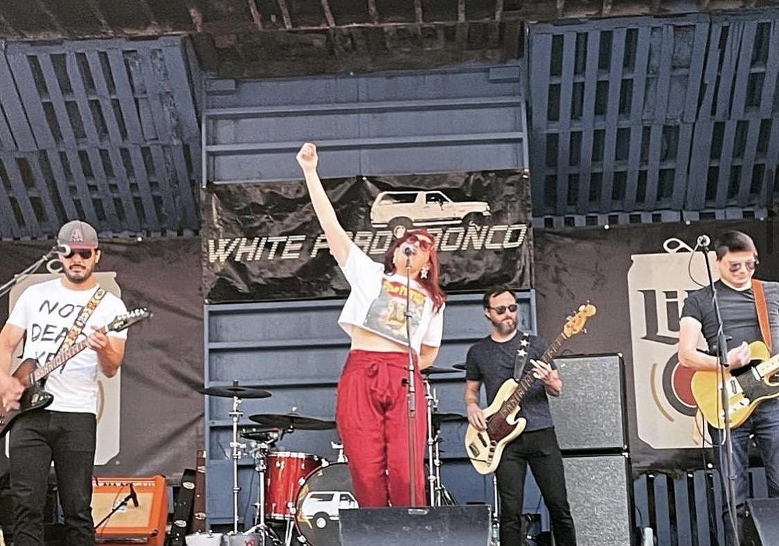 White Ford Bronco at the Bullpen - 9.16