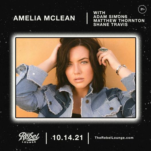 AMELIA MCLEAN at The Rebel Lounge