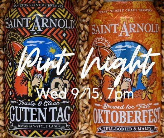 Saint Arnold Pint Night