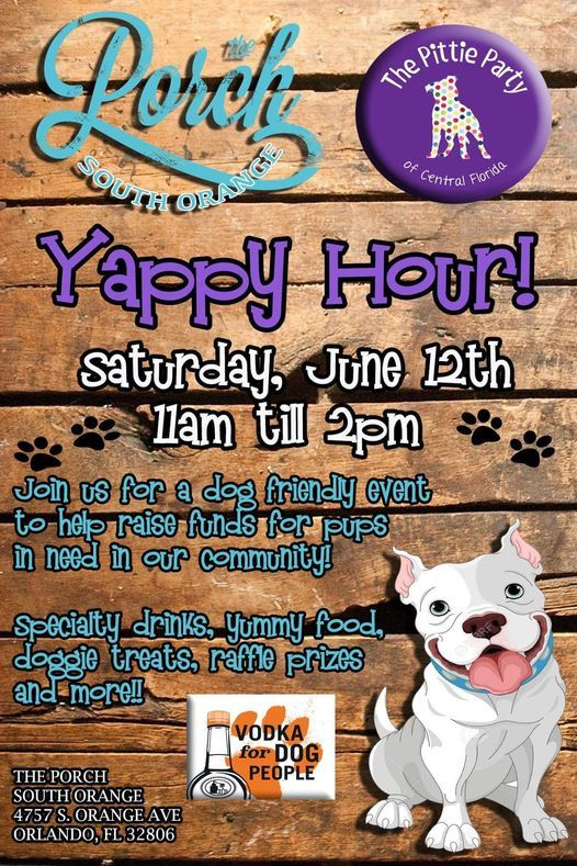 Yappy Hour at The Porch South Orange