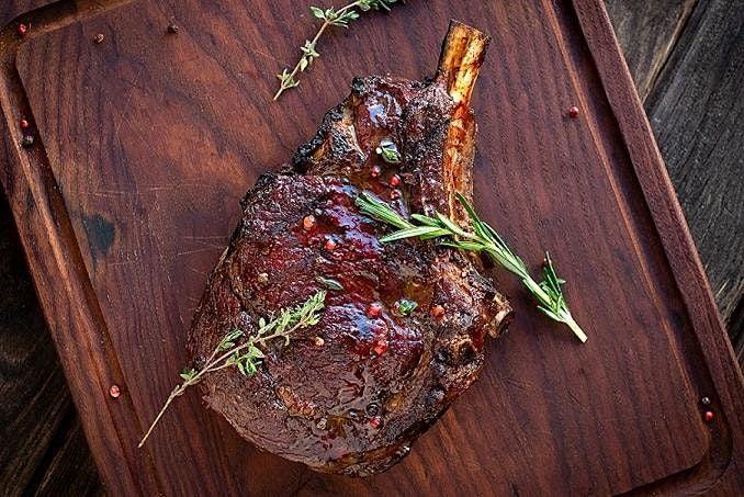 A Cowboy Steak Dinner