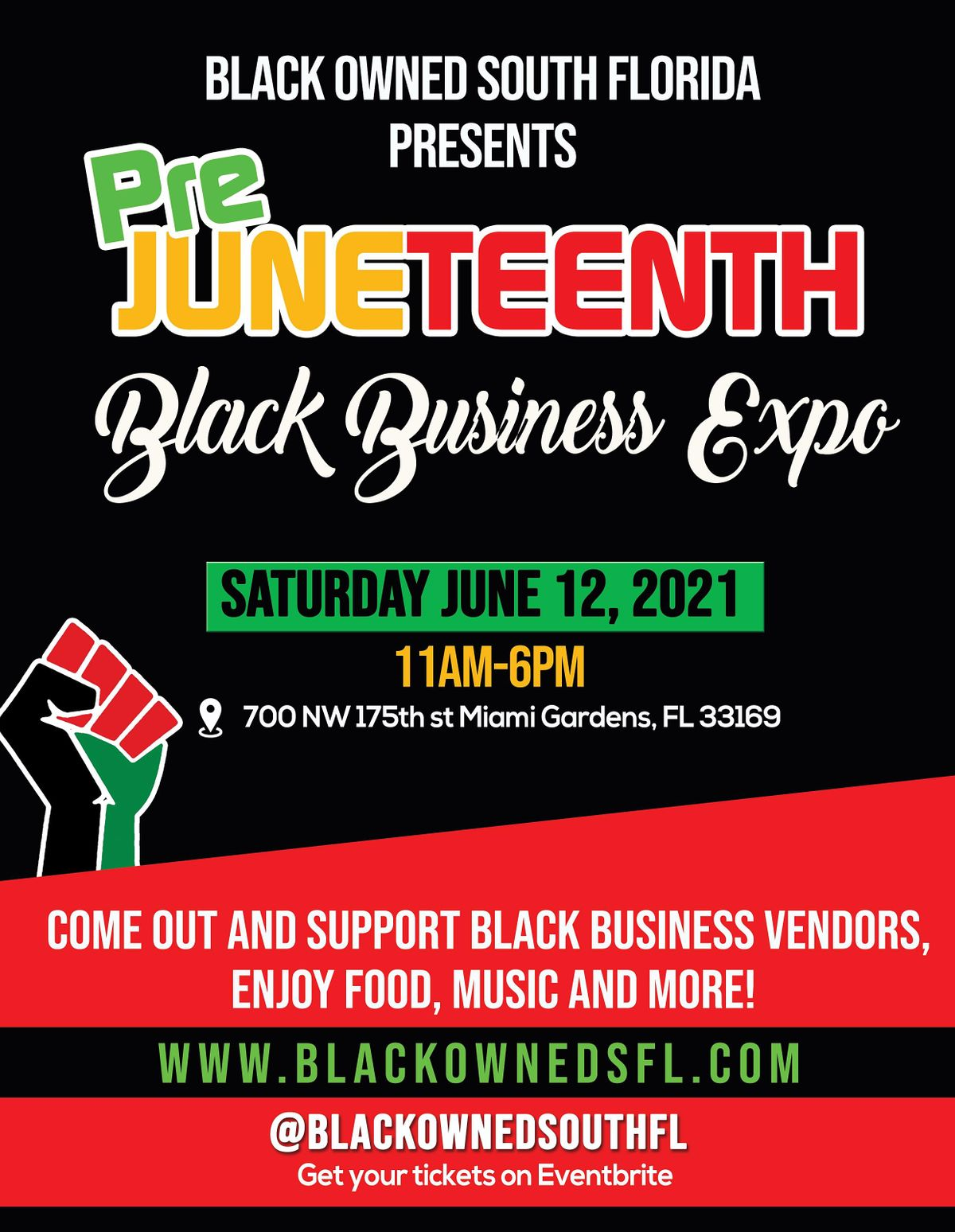 Pre Juneteenth Black Business Expo
