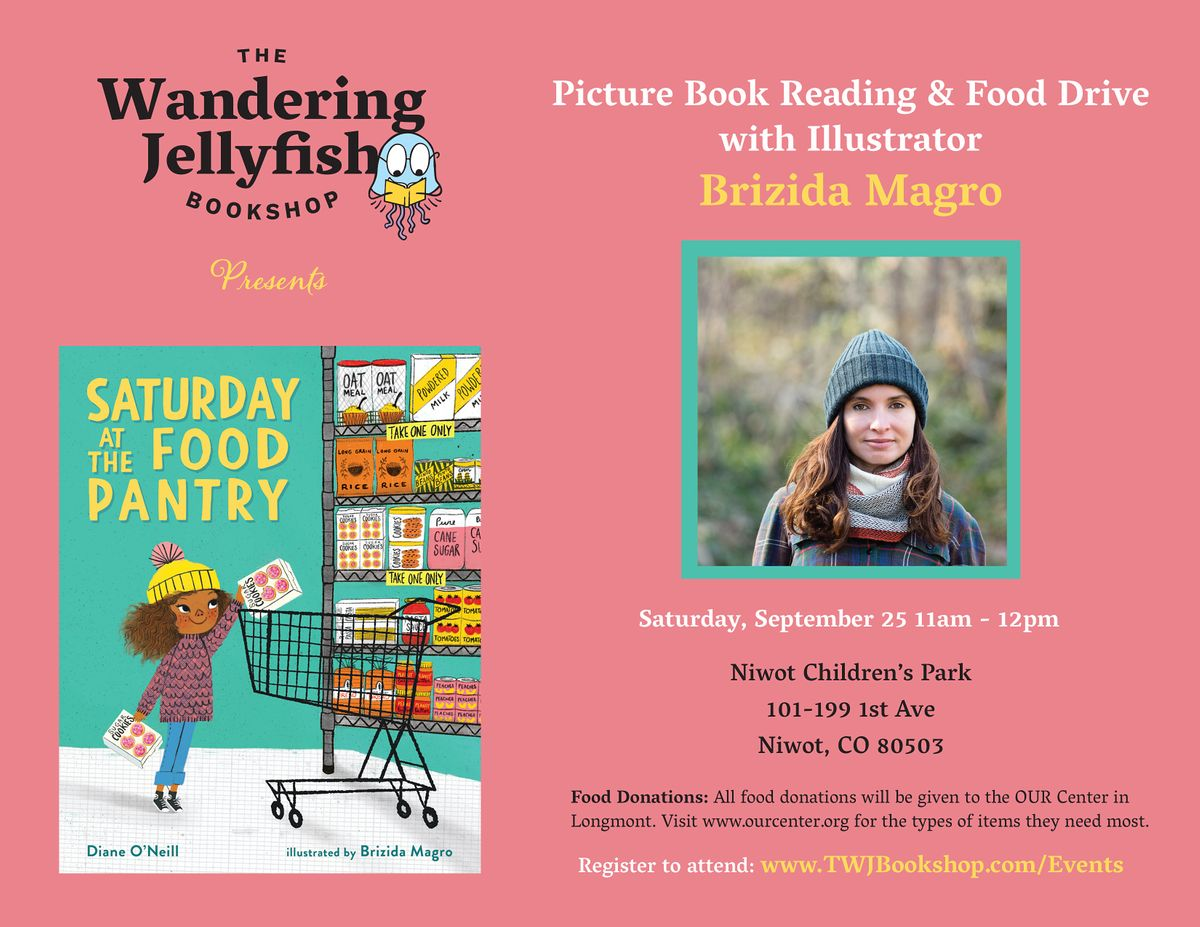Picture Book Reading, Signing & Food Drive with Illustrator Brizida Magro