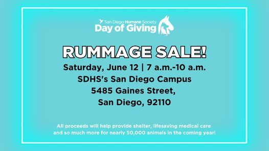 Day of Giving Rummage Sale!