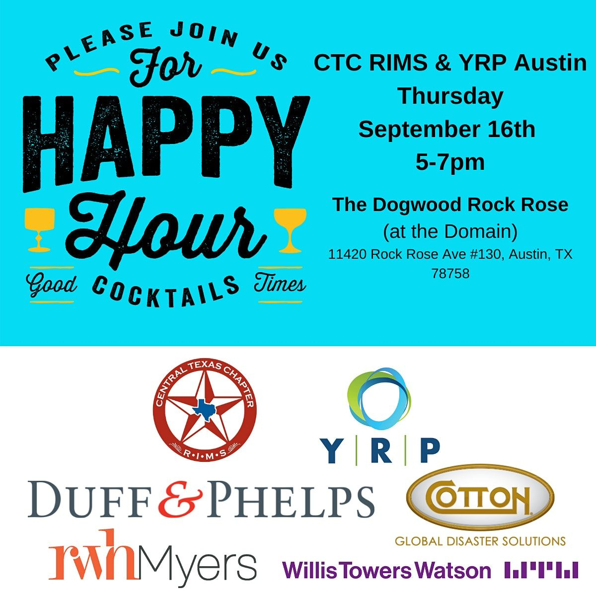 Happy Hour with Austin YRP and Central Texas Chapter RIMS