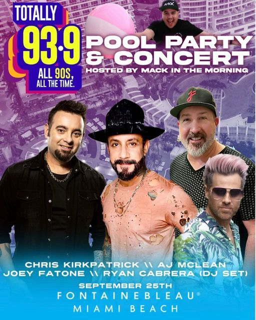90'S Pool Party and Concert