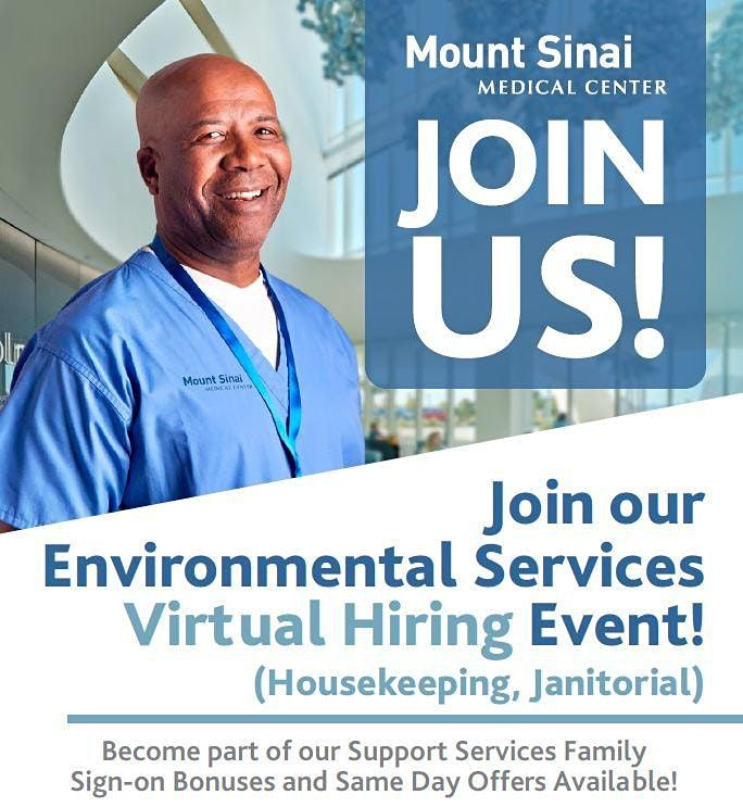 Food and Nutrition  Hiring Event With Mount Sinai