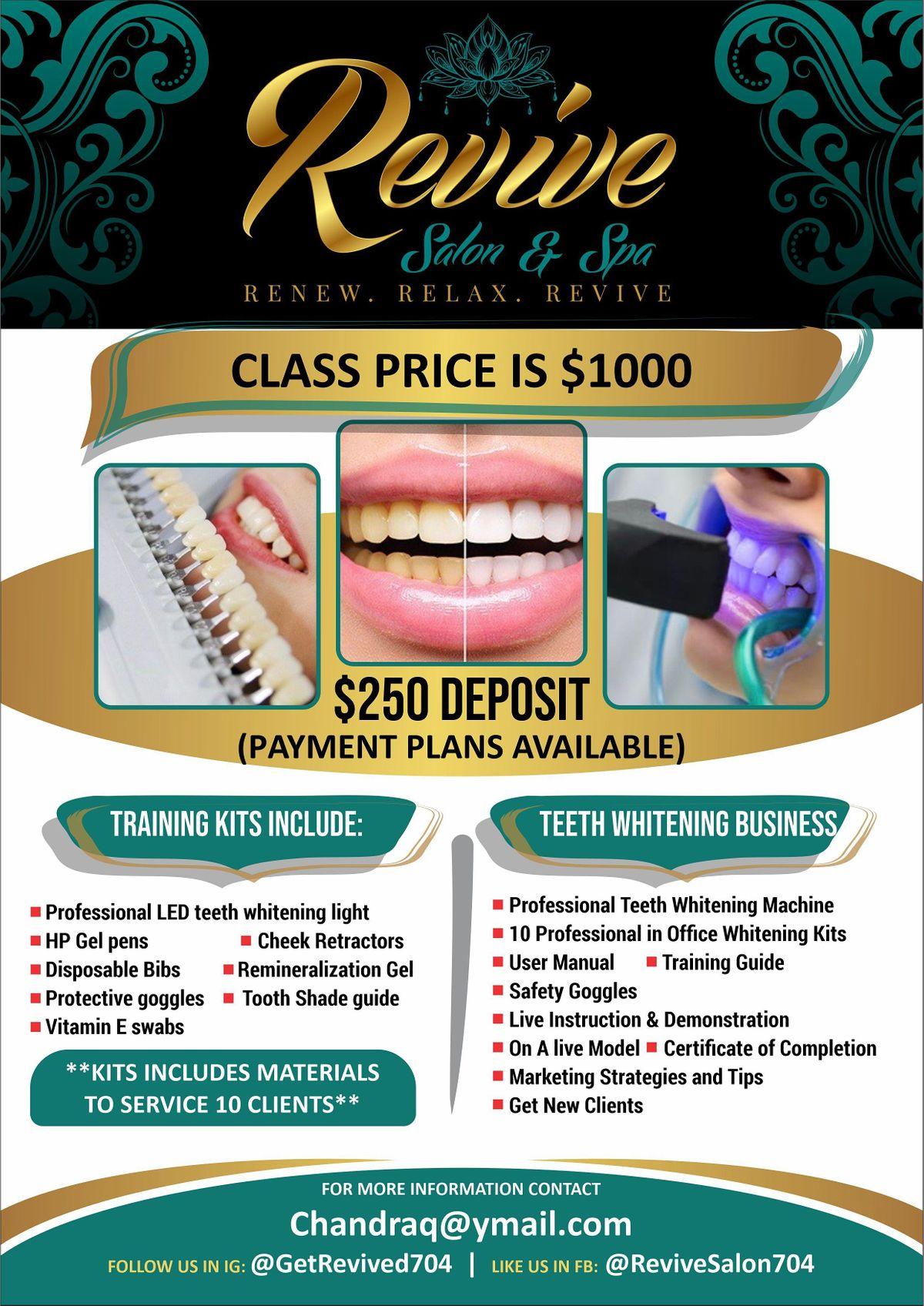 Revive Salon & Spa \u201cTeeth Whitening Certification\u201d Class