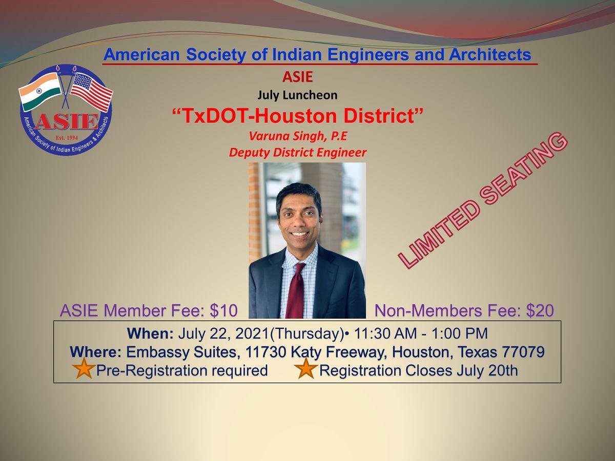 ASIE July Seminar - TxDOT-Houston District