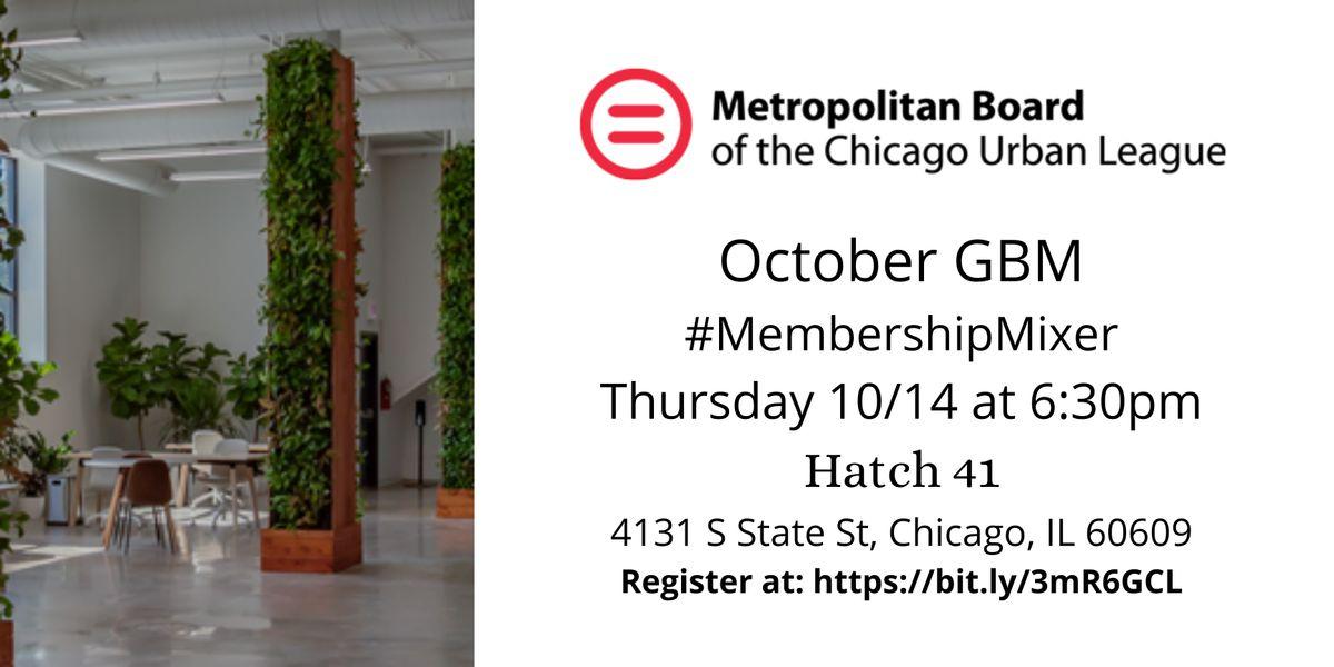 MetroBoard: October General Body Meeting