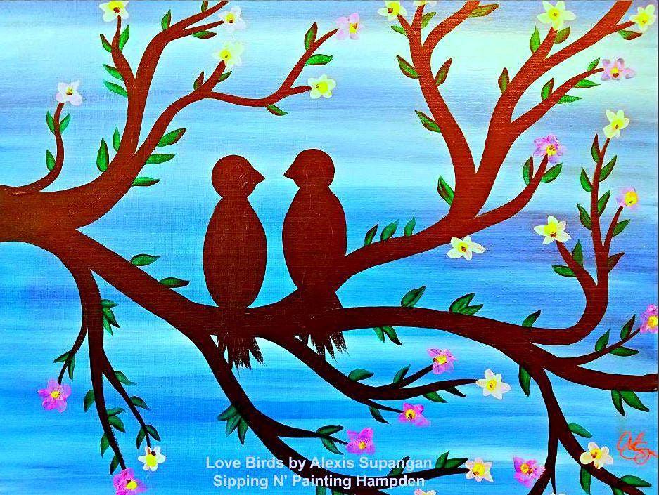 IN STUDIO CLASS Love Birds Wed Sept 15th 6:30pm $35