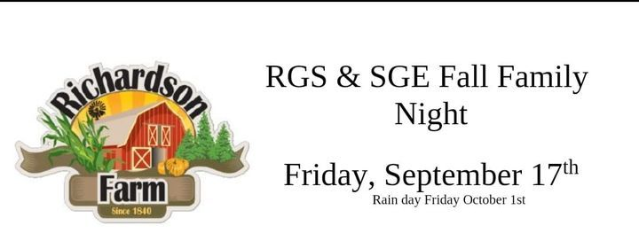 RGS and SGE Fall Family Night