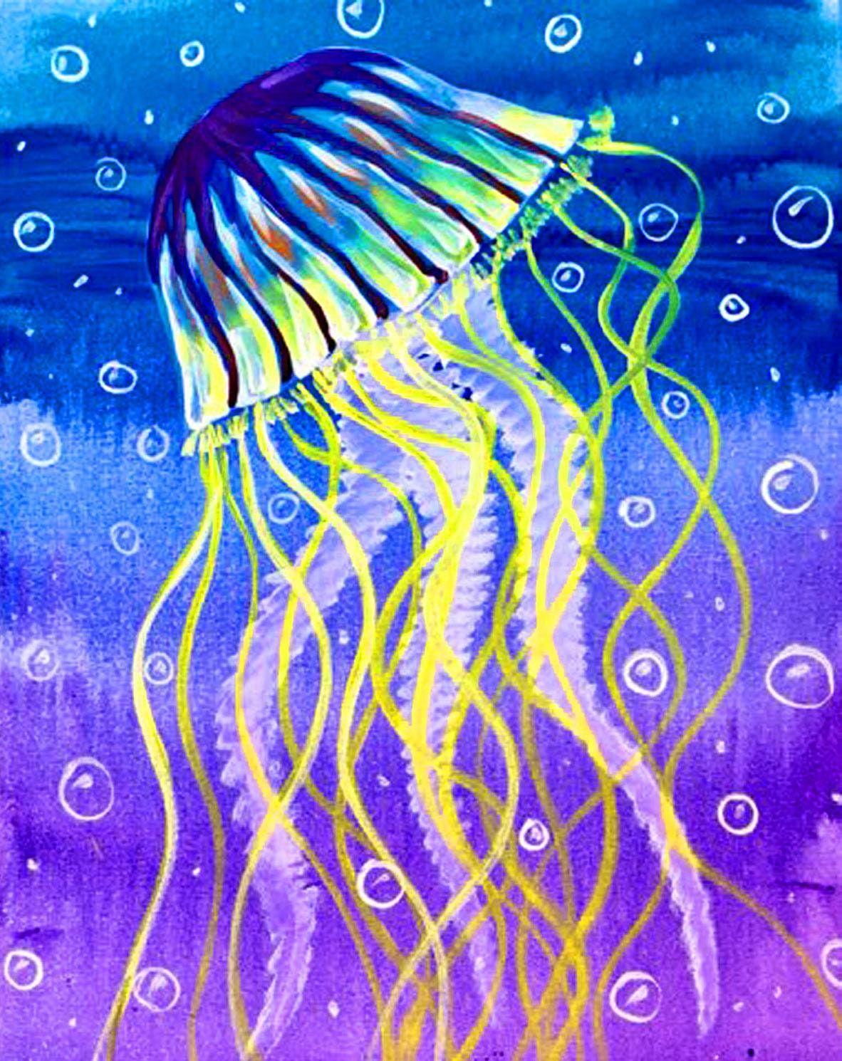 Easy Jellyfish Paint Night Pacific Beach